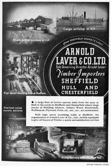 Advertisement for Arnold Laver and Co. Ltd. Timber Importers, Bramall Lane, 1939