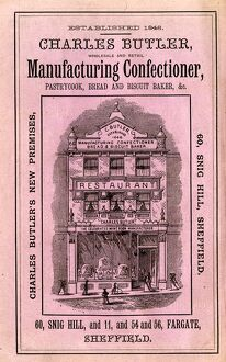 Advertisement for Charles Butler's wholeslae and retail manufacturing confectioner
