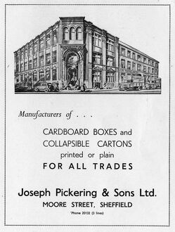 Advertisement for Joseph Pickering and Sons Ltd., Moore Street, 1939