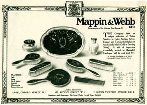 Advertisement for Mappin and Webb Ltd., Royal Works, Norfolk Street