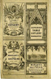 Advertisement for Marshes and Shepherd, Cutlery Merchants and Manufacturers