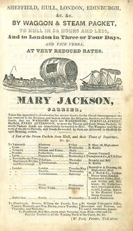 Advertisement for Mary Jackson, Carrier, 1837