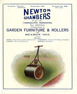 Advertisement for Newton Chambers and Co Ltd., Thorncliffe Ironworks, Garden Furniture