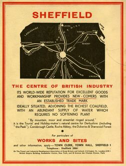 Advertisement promoting Sheffield, 1939