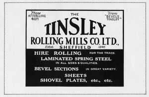 Advertisement for The Tinsley Rolling Mills Co. Ltd., 1939