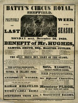 Batty's Circus Royal, Sheffield, 1839