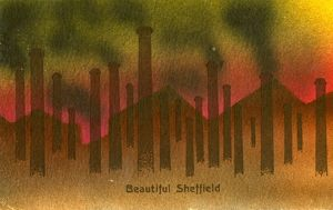 Beautiful Sheffield, postally used 1909