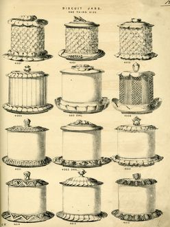 Biscuit jars manufactured by George Wing of Sheffield, 1887