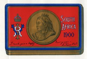 Boer War: chocolate box, sent to the troops in South Africa