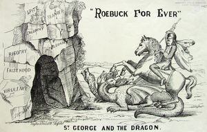 Cartoon: 'Roebuck For Ever, St George and the Dragon', 1860s -1870s