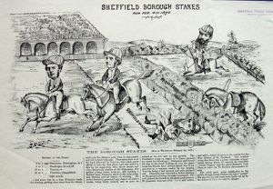 Cartoon: Sheffield Borough Stakes run 4 Feb 1874