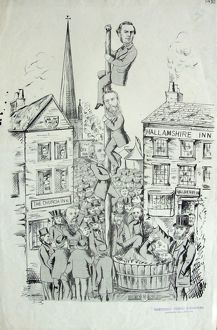 Cartoon showing the candidates in the 1874 General election