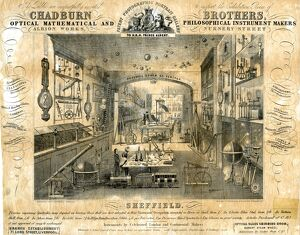 Chadburn Brothers, Optical Instrument Makers, Albion Works, Nursery Street