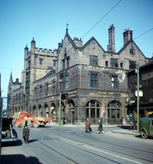 Corn Exchange, Broad Street, Sheffield, Yorkshire, 1958