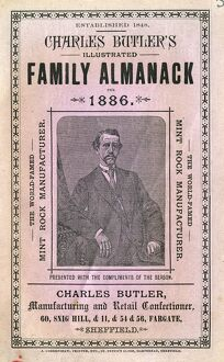 Cover of Charles Butler's Illustrated Family Alamanac, 1886