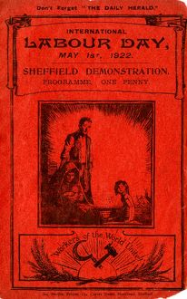 Cover of programme of International Labour Day Sheffield demonstration programme