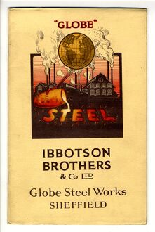 Cover of steel department trade catalogue of Ibbotson Brothers and Company Limited