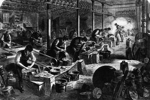 Cutlery Manufacture, razor grinding, 1866