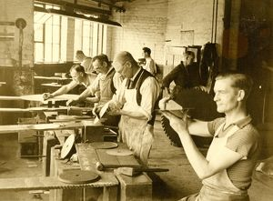 Edge Tool Manufacture, Setting circular saws at W. Tyzack and Turner , , 1950