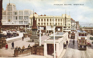 Fitzalan Square, Sheffield, Yorkshire, c. 1950