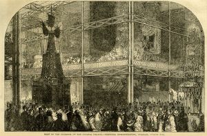 Great Exhibition 1851: view of the Interior of the Crystal Palace - Teetotal Demonstration