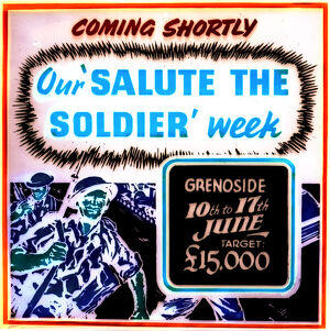 Grenoside, Sheffield, Salute the Soldier poster, 1940s