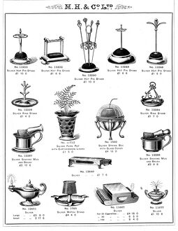 Hat pin stands and other silver and electro-plated items manufactured by Martin, Hall and Co Ltd