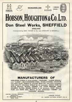 Hobson Houghton and Co. Ltd., Don Steel Works, Steel Manufacturers, 1919