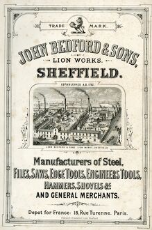 John Bedford and Sons, Lion Works, Mowbray Street, manufacturers of edge tools, engineers&#39