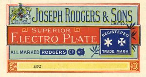Joseph Rodgers and Sons Ltd, Cutlery Manufacturer, 6 Norfolk Street - extract from catalogue