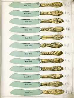 Knife handles manufactured by George Wing of Sheffield, 1887