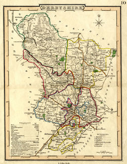 Map of Derbyshire, pre 1839