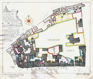 Map of the Vicarage Croft in Sheffield …, 1756