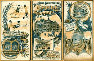 The New Sheffield Empire Palace, Charles Street, programme, 1906