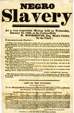 Notice entitled 'Negro Slavery' - report of a very respectable [anti-slavery]