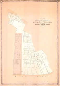 Plan of Freehold Property situate in High Street belonging to William Younge, 1847