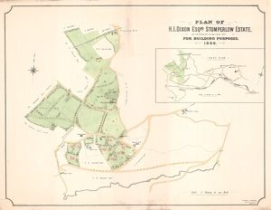 Plan of H I Dixon esquire's Stumperlow Estate as proposed to be laid out for building purposes