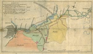 A plan of the intended canal from Sheffield to Tinsley by W. and J. Fairbank, 1815