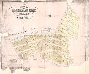 Plan of the Meersbrook Bank Estate near Sheffield, 1876