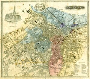 Plan of Sheffield, 1838