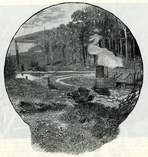A Rural Grinding Mill from a drawing by A. Morrow, 1884