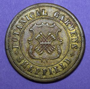 Sheffield Botanical Gardens token, c. 1899