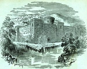 Sheffield Castle as it appeared in the year 1066