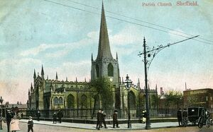 Sheffield Cathedral, Church Street, c. 1906