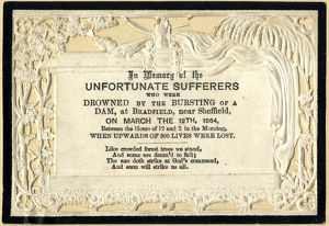 Sheffield Flood Memorial Card
