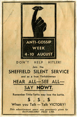 Sheffield Information Committee / Ministry of Information - Anti Gossip Week, 4-10