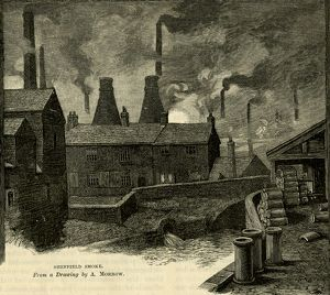 Sheffield Smoke from a drawing by A. Morrow, 1884