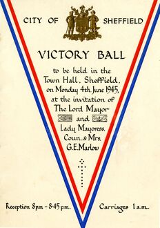 Sheffield Victory Ball (VE Day) 1945