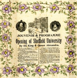 Souvenir of the Royal Visit of King Edward VII and Queen Alexandra to open the University