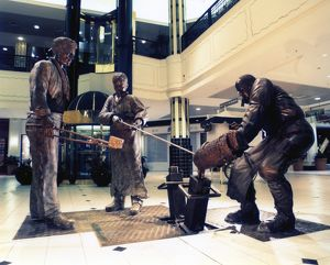 Steelworkers bronze statue, Meadowhall Shopping Centre